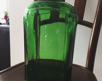 Vintage Bright's Glass Wine Jug