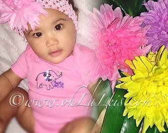 Boho Flower Headband, Baby Headband, Adult Headband