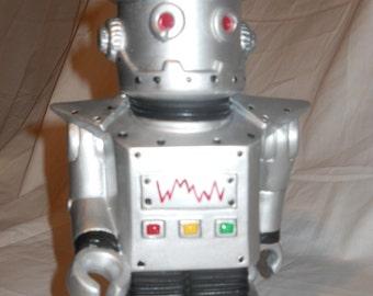 Silver Robot Bank