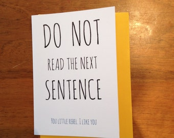 You little rebel Greeting Card - FREE POSTAGE