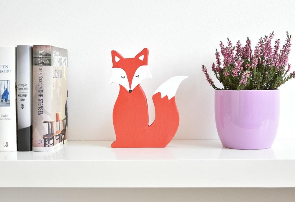 Wooden Fox Home Decor Housewarming Gift Wooden Desk