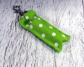 Green Polka Dotted Lip Balm Holder raising money for Pediatric Cancer Research