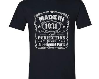 1931 birthday, 1931 shirt, 1931 T-Shirt, 1931, 1931 birthday shirt, Any Year Available