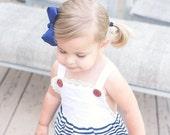 Vintage Inspired Bubble Romper, Black and White Striped Toddler Girls, Summer & Spring, Nautical Baby Bodysuit, Striped Sunsuit, Navy Lace