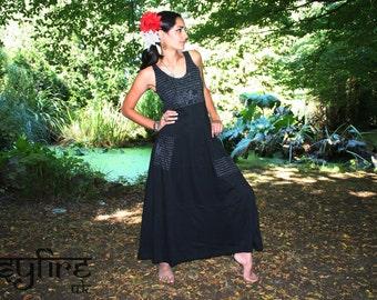 SANSKRIT LONG Dress - Hippie Top, Hippie Maxi Dress, Festival Clothing, Long Pixie Dress, Strappy Dress, Boho Maxi Dress, Full Length Dress