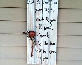Inspirational Rustic Wood Sign