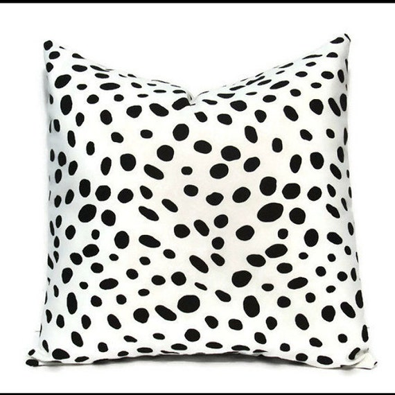 White Decorative Throw Pillow Covers : Black White Pillow Cover Decorative Pillow Black Dalmatian