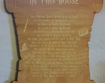 Harry Potter - In This House Placard