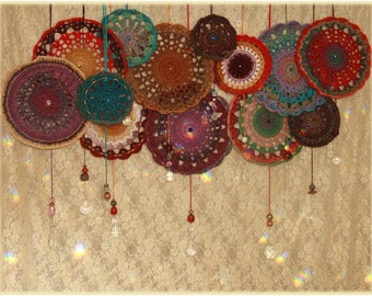 Hanging Mandala & Sun-catcher ~ Crochet Art   #20