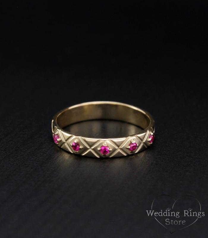 ruby ring ruby gold ring unique ruby ring gemstone