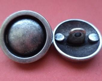 18 mm (4288) metal button jacket buttons buttons 5 metal buttons silver