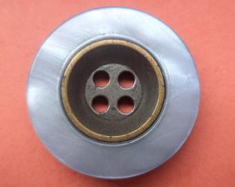 10 buttons blue bronze 23mm (2873) button