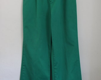 Preppy KELLY GREEN wide legged high waisted pants