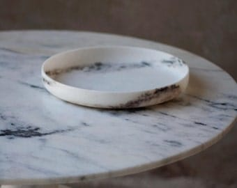 White Marble platter, natural marble utensil, marble tray, marble artisen decor, marble kitchenware, handcrafted marble