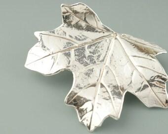Sugar Maple Leaf Brooch