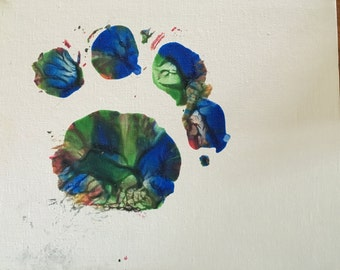 Rascal Color Paw Prints