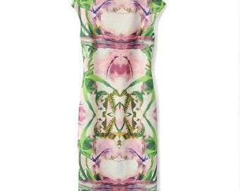 Botanical Watercolor Dress