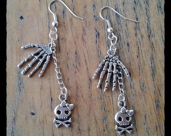 Skully Hand Earrings
