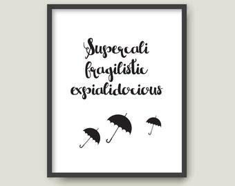 Supercalifragilisticexpialidocious Etsy Uk