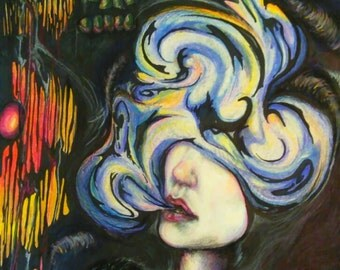 Fine Art. Nightmare Illustration.  Art Print. Wall art wall decor