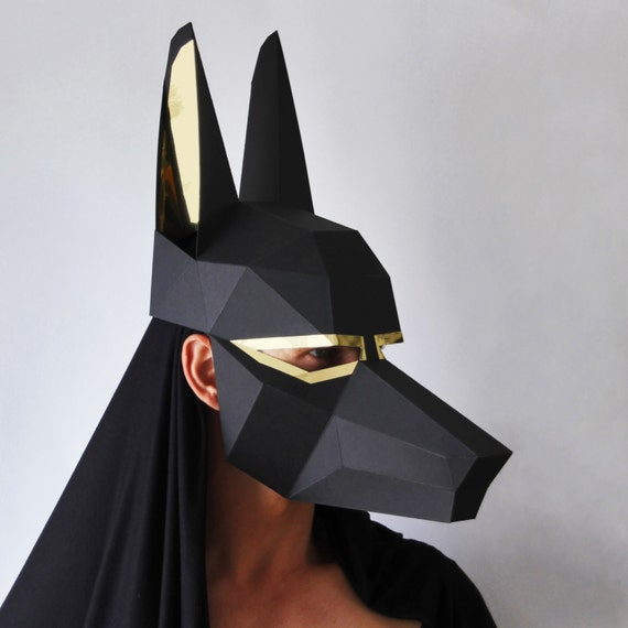 Diy Cardboard Masks: ANUBIS Papercraft DIY Egyptian God Mask By Ntanos On Etsy