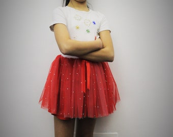 Red Tulle skirt
