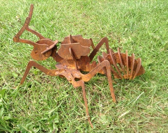 Rusty 3D ant / 3D Metal ant / ant gift / Rusty Metal ant / Garden art / Garden Decor / ant / Metal Art / Giant 3D Insect / ant