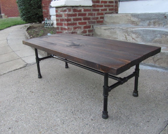Industrial reclaimed wood coffee table rustic by for Industrial farmhouse coffee table