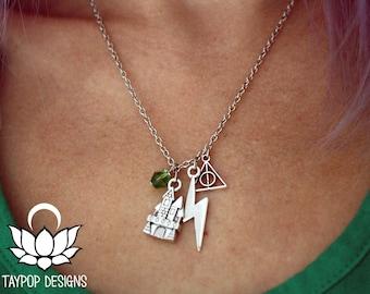 Hogwarts Charm Necklace -  Harry Potter inspired Necklace