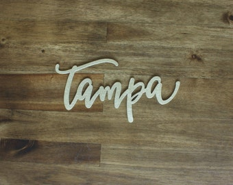 Tampa Hand Lettered Wall Decor