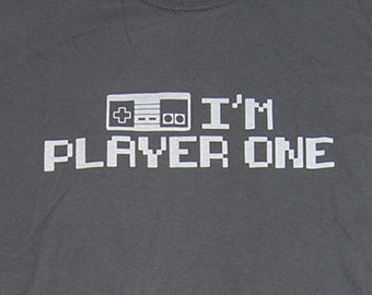 NES Controller shirt, Retro gamer, I am player one by WearableDesignTShirt on Etsy
