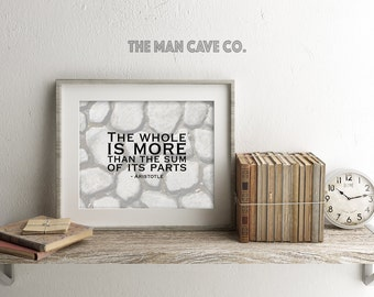 Aristotle quote Printable art Manly office decor Wall art for him Team quote print Office wall art Office team quote print Scenery quote art