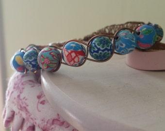 Bangle wire bracelet