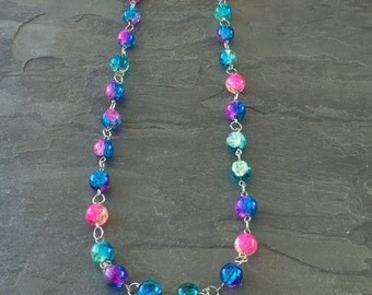 Colorful Necklace Beaded , Colorful Beaded Necklace, Beaded Necklace Colorful, Beaded Colorful Necklace, Long Colorful Necklace Beaded