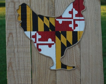 Maryland Flag Chicken | Pallet Art