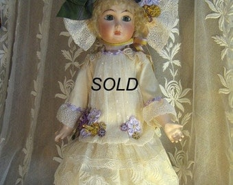 """FRENCH DOLL DRESS For 18"""" Doll - Sold"""
