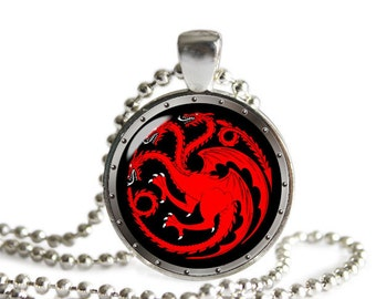House Targaryen Necklace Pendant  Game Of Thrones Necklace Pendant  Fandom