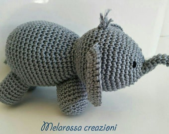 Baby elephant amigurumi crochet doll suitable for children, gift picollissimi birth, baptism, 1st birthday.