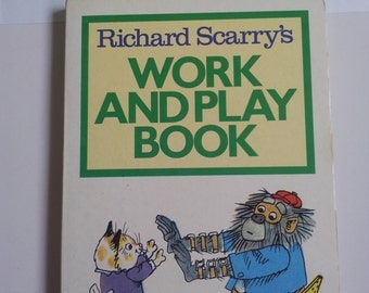 Richard Scarry's Work and Play Board Book Vintage book