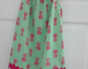 Handmade Girls beach dress and matching beach bag