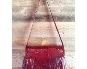 Vintage oxblood eel skin purse