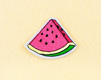 Watermelon Patch - Iron on patch -Sew On patch - Embroidered Patch (Size 5.7cm x 4.5cm)