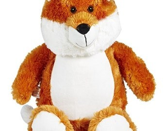 Fox Cubbie embroidered with your special message - unique gift for babies or kids