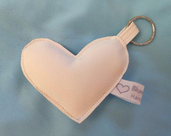 White eco-leather Keychain sweetheart Bluecreazioni Collection