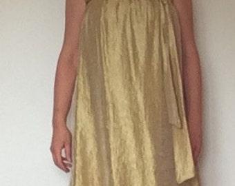 Golden mini dress