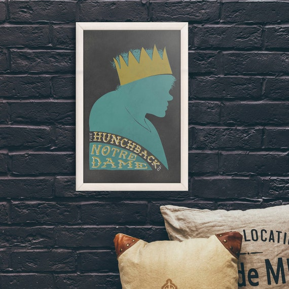 Hunchback of Notre Dame - 11x17 Print // Quasimodo Silhouette // Pop Culture Wall Décor // Universal Monster // Vintage Art // Lon Chaney