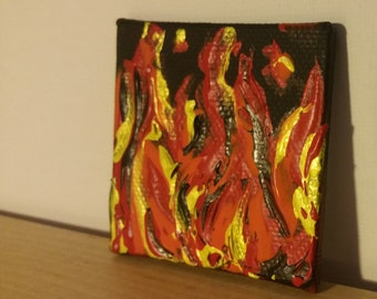 2x2 acrylic painting on canvas panel