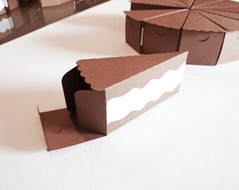 Paper slice of cake