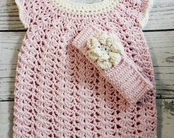 baby knit dress, 3-12 months