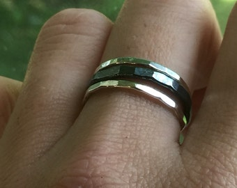 Stacking Rings for Women - Silver - Stacking Rings - Set of 3
